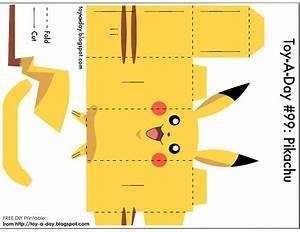 diy printable paper box pocket monster pikachu pokemon With pokemon templates print