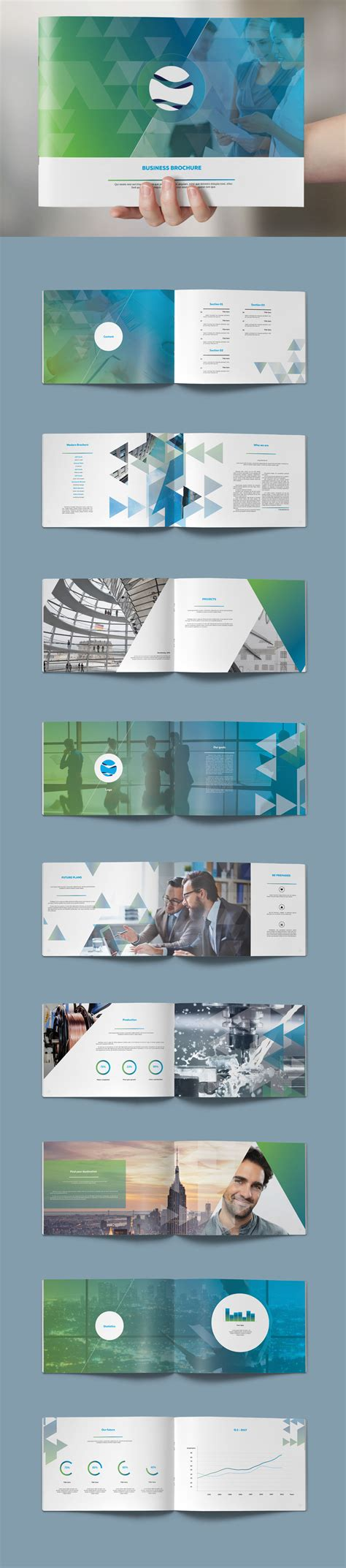 template plaquette indesign modern brochure 22 pages design template indesign indd