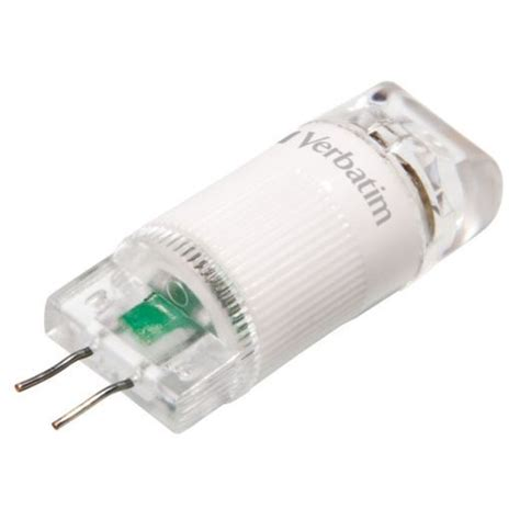 verbatim 52143 1 watt g4 led capsule light bulb