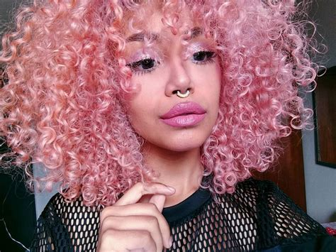 White Girl Curly Black Hair