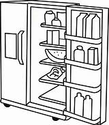 Fridge Coloring Refrigerator Colouring Template Clipart Getcolorings Printable Colorings sketch template