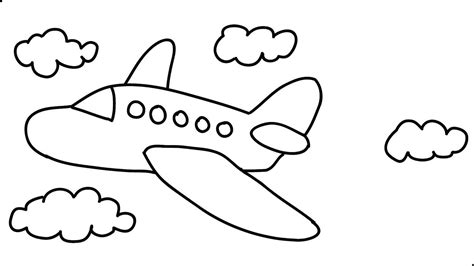 draw  airplane easy step  step draw  cartoon