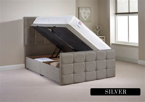 Aspire Furniture Pembroke 3ft Single Fabric Ottoman Bed
