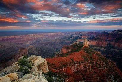 Canyon Grand Arizona Sky Sunset Night Clouds