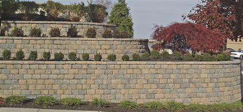 brick retaining wall design cinder block retaining wall ideas for better look