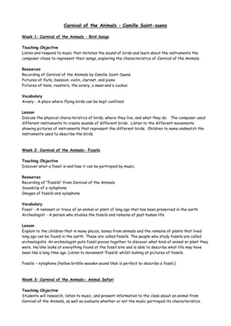 carnival of the animals lesson plans by dinx67 teaching 122 | image?width=500&height=500&version=1416156820000