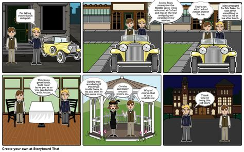 the great gatsby chapter 4 storyboard by mandilove12