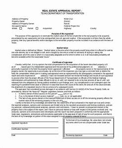 enchanting real estate appraisal template mold resume With property documents format