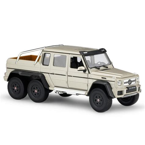Licensed mercedes benz amg g63 6x6 electric kids ride on car with remote control, 4 motors, openable doors, pull handle, spring suspension, usb, mp3 and bluetooth, black. 1:24 Gold Mercedes-Benz G63 AMG 6X6 Model Cars Vehicles Toys Collection by WELLY | eBay