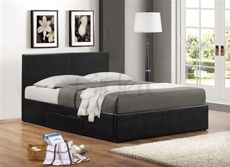 birlea berlin ft kingsize black faux leather bed frame