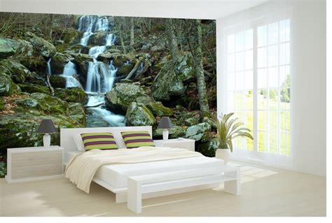 bedroom printed wallpaper mural