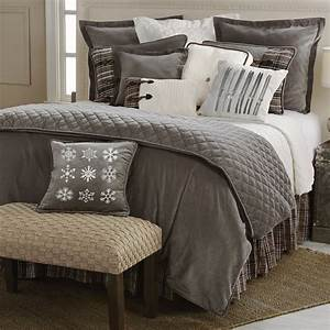 Rustic, Bedding, Queen, Size, Silver, Mountain, Bed, Set