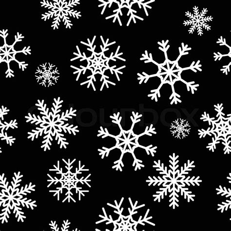 Snowflake Background Black And White by White Snowflakes On Black Background Stock Vector