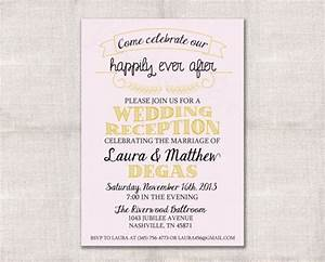 wedding reception celebration after party invitation With wedding party invitations after getting married