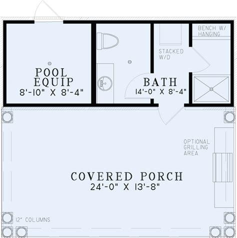 pool house plans 1495 poolhouse plan with bathroom house plans