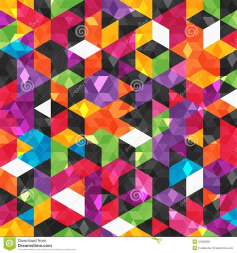 Abstract Geometric Shapes Pattern by Colorful Abstract Pattern With Geometric Shapes Stock