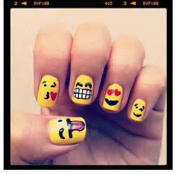 Emoji nails and