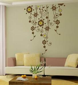 wall art decor floral vines wall sticker by wall art decor With art on walls home decorating