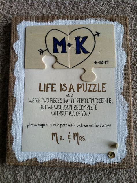 Puzzle Guest Book Sign I Do Pinterest