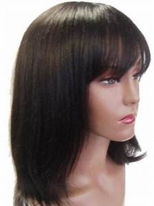 Different Types Of Bangs Chart Sassy Brown Straight Shoulder Length Wigs For Cancer Pink