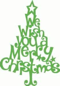 silhouette design store view design 70352 whimsical we wish you a merry christmas tree