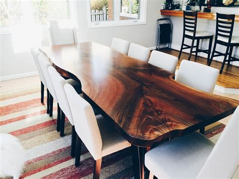 natural  edge wood dining tables serving  greater