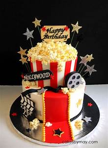 Movie Hollywood Theme Birthday Cake - CakeCentral com