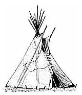 Tent Wigwam Teepee Clipart Drawing Coloring Pages Americans Native American Clip Tipi Teepees Indians Colouring Printable Sheet Buildings Graphics Getdrawings sketch template
