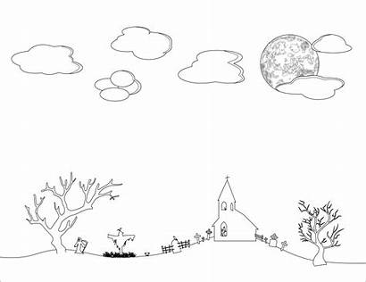 Sky Coloring Night Clipart Pages Line Colouring