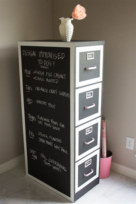 hometalk chalkboard paint file cabinet makeover