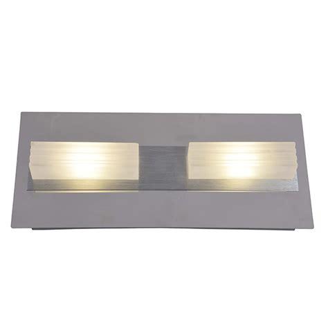 wall sconce 2 lights led chrome and aluminum rona