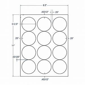 25quot x 25quot white circle label 12 labels per sheet 100 With circle label sheets