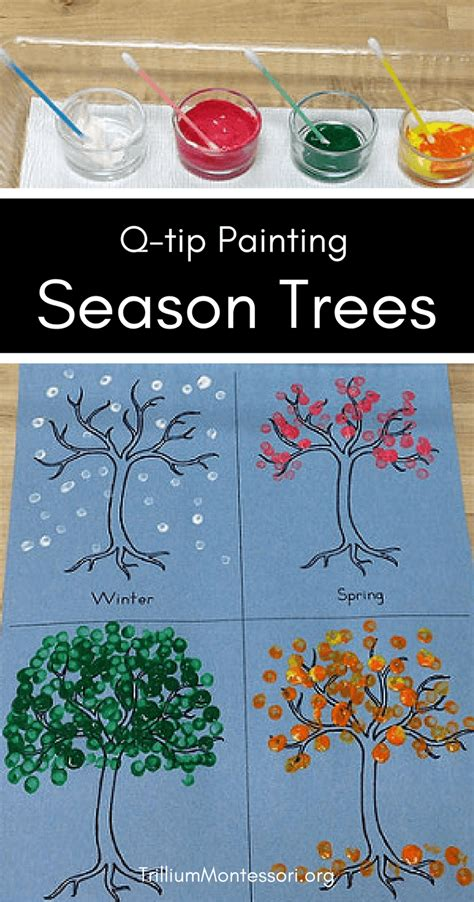 tip season tree painting idea  toddlers  hand