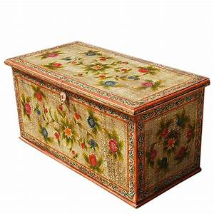 solid hardwood hand painted storage trunk coffee table With painted trunk coffee table