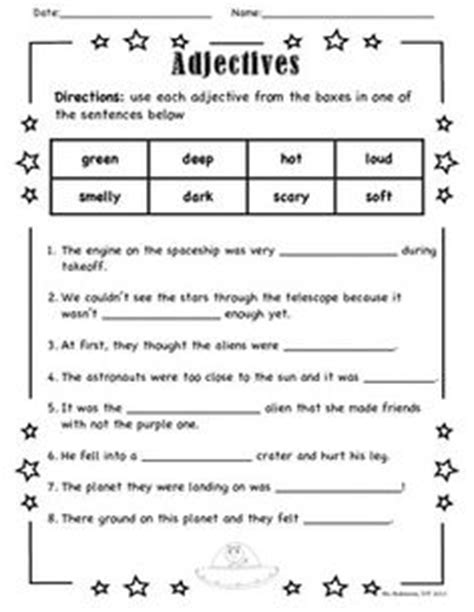 1000+ Images About Adjectives Worksheets On Pinterest  Worksheets, Adjectives Activities And