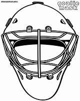 Goalie Coloring Mask Hockey Helmet Coloringway Colorings sketch template