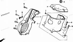 Honda Scooter 1988 Oem Parts Diagram For Fan Cover