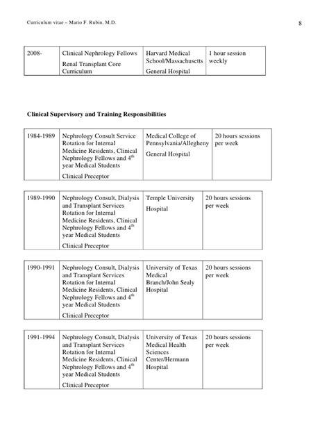 harvard school curriculum vitae date prepared 10