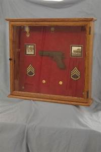 Mid Century Modern Lighting Hand Made Military Gun Medal Display Case By Ziegler