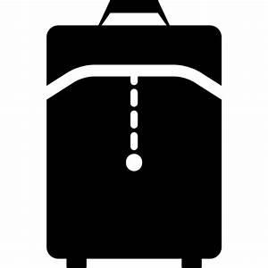 Travel bag black interface symbol - Free travel icons