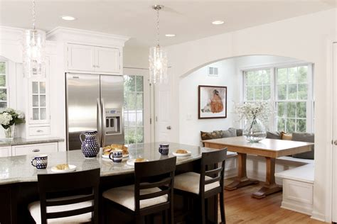 eat in kitchen decorating ideas eat in kitchen decorating ideas kitchen traditional with breakfast nook white wood pedestal table