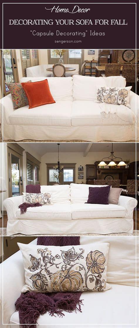 plum sofa decorating ideas how i decorated my sofa for fall deep purple decorating