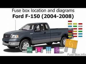 2007 Ford F 150 Lariat Fuse Box : fuse box location and diagrams ford f 150 2004 2008 ~ A.2002-acura-tl-radio.info Haus und Dekorationen