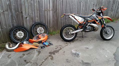 ktm exc 300 supermoto 2008 ktm 300 exc orange supermoto motocross