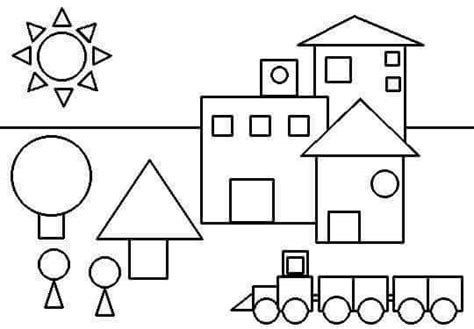 shapes coloring page 171 preschool and homeschool 407 | shapes coloring page