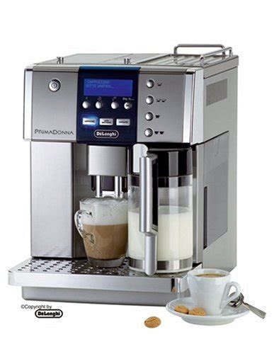 DeLonghi One Touch ESAM6600 Kaffee Vollautomat PrimaDonna (1.8 l, Milchbehälter) silber