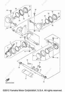 Yamaha Motorcycle 2005 Oem Parts Diagram For Flasher Light