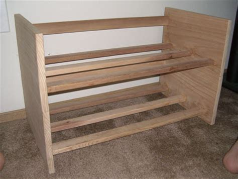 cedar shoe rack stackable cedar shoe rack by mauritius lumberjocks