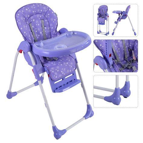 adjustable baby high chair infant toddler feeding booster
