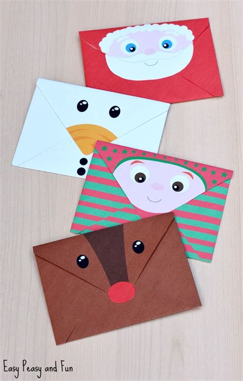 printable christmas envelopes easy peasy  fun